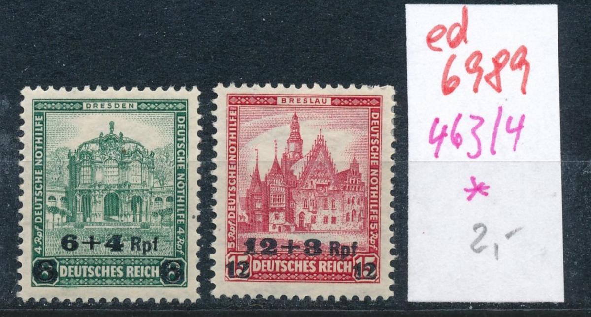 D.-Reich  Nr. 463-4  *  (ed6989  ) siehe scan 0
