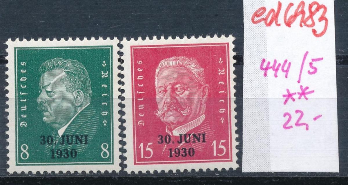 D.-Reich  Nr. 444-45     **  (ed6983  ) siehe scan 0