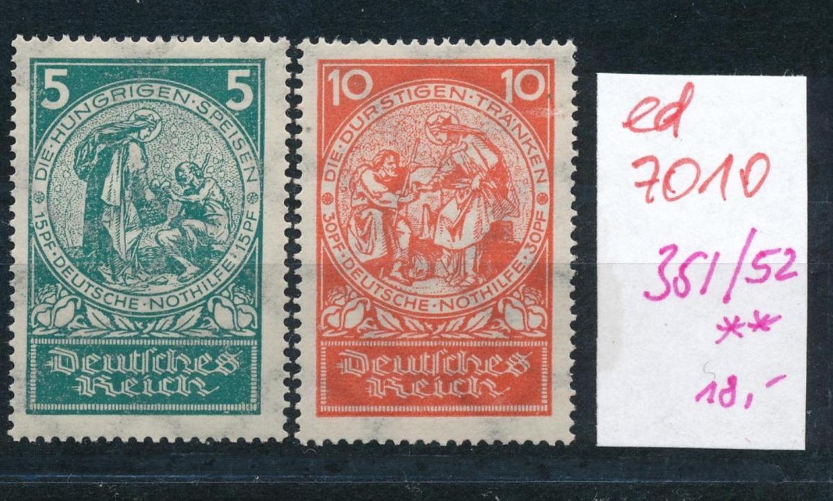 D.-Reich Nr. 351+52   **  (ed7010  ) siehe scan 0