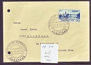 Baden  Nr. 46  FDC   ( pp214 ) siehe scan