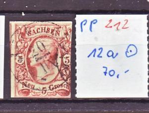 Sachsen Nr. 12 a     o   (pp212 ) siehe scan