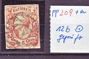 Sachsen Nr. 12b   /sehr schönes Stück/  signiert   (pp209 ) siehe scan