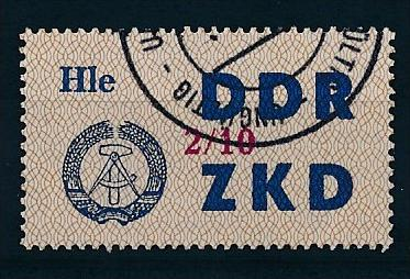 DDR ZKD Nr.  37 X   amtlich ungültig gestempelt  (f9146  ) siehe scan  ! 0