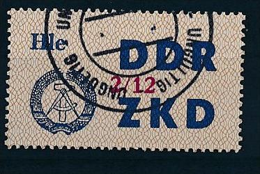 DDR ZKD Nr.  37 XII   amtlich ungültig gestempelt  (f9147  ) siehe scan  ! 0