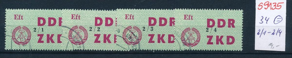 DDR -ZKD  -  34 o  2/1-2/4     (s9135   ) siehe scan.... 0