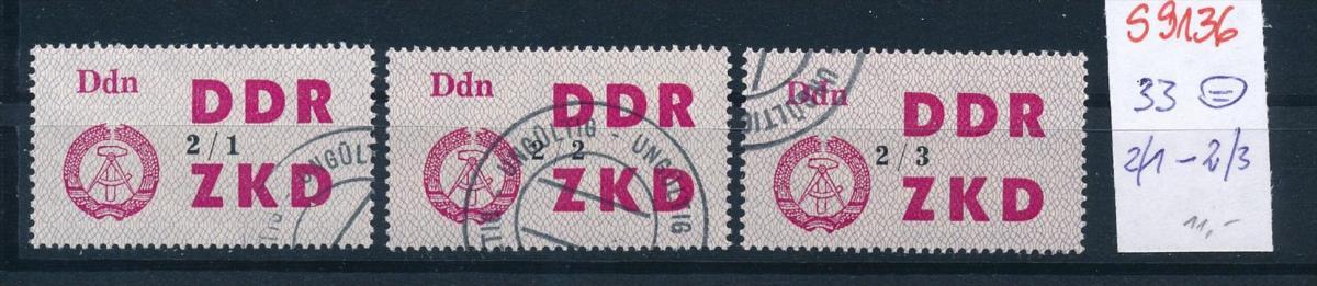 DDR -ZKD  -  33 o  2/1  -2/3      (s9136   ) siehe scan.... 0