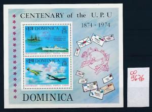 Dominica Flugzeuge  **  - Block     (oo9676  ) siehe scan