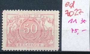 Belgien Eisenbahn  Nr. 11 *      (ed7027  ) siehe scan