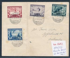 Österreich Nr. 551-4  Beleg nur o gerechnet / Umschlag Knick   (zu1682  ) siehe scan