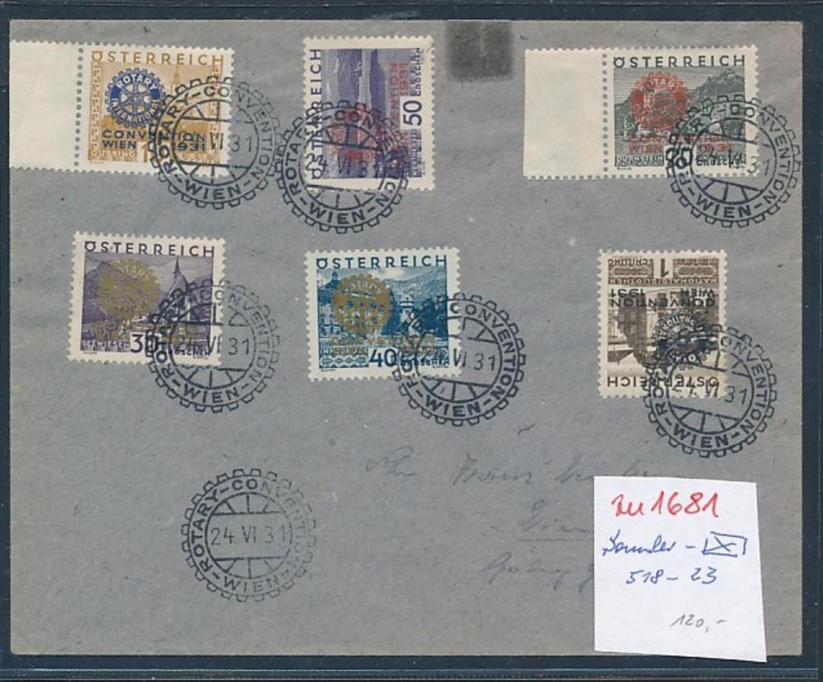 Österreich Nr. 518-23 Sammler Beleg   (zu1681  ) siehe scan 0
