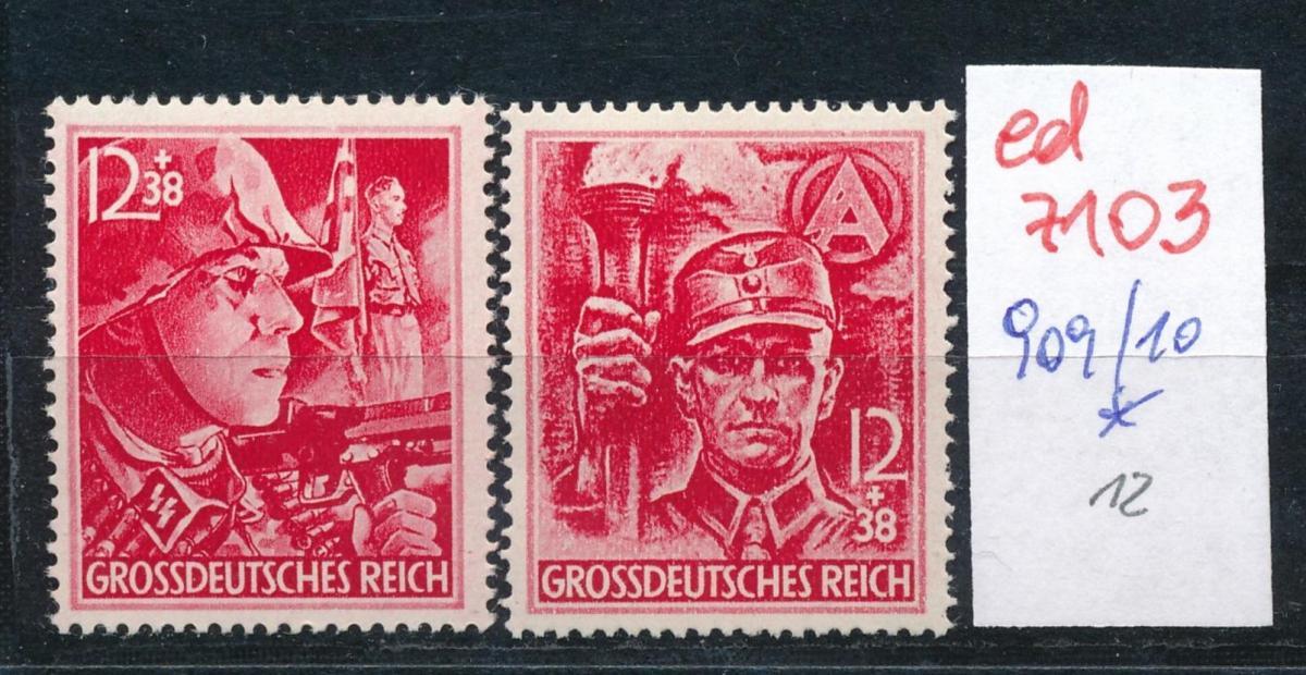 D.-Reich Nr. 909-10*..  (ed7103  ) siehe scan 0