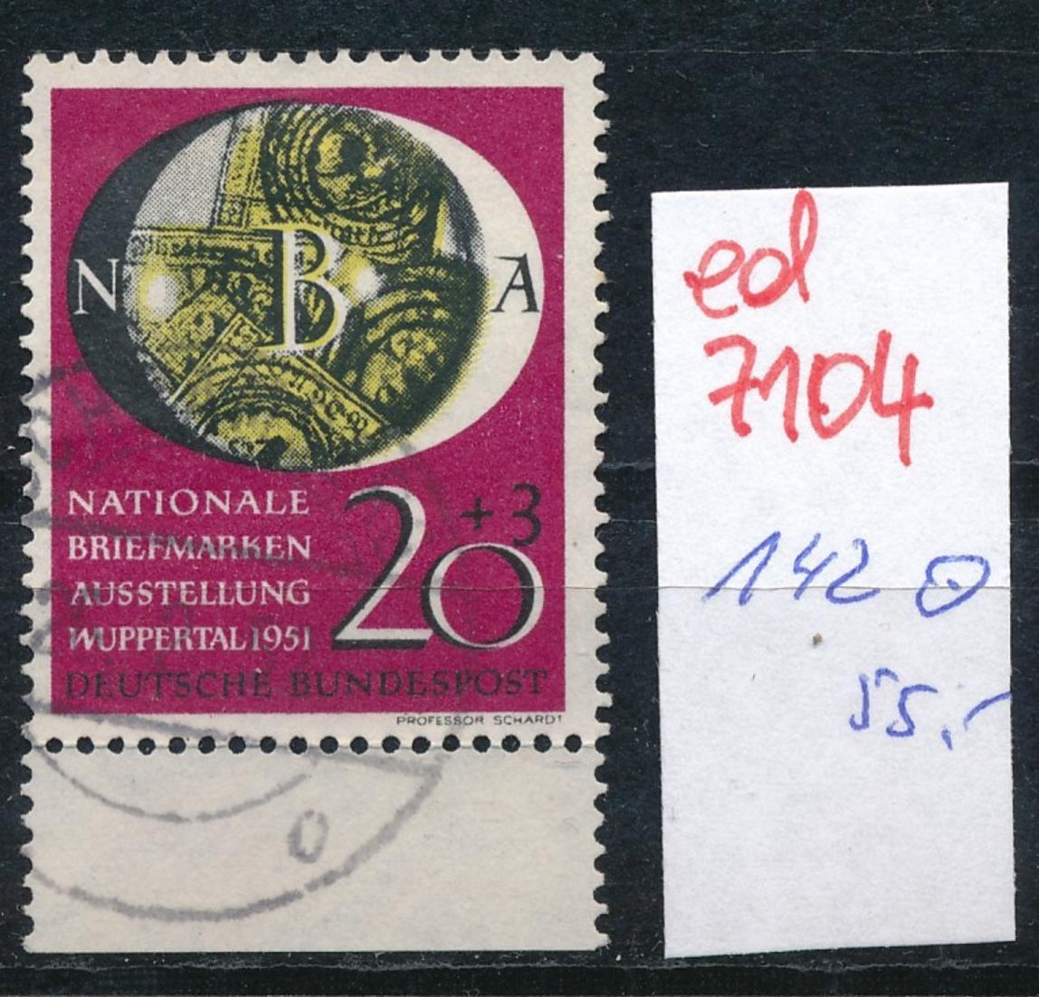 BRD Nr. 142 o..  (ed7104  ) siehe scan 0