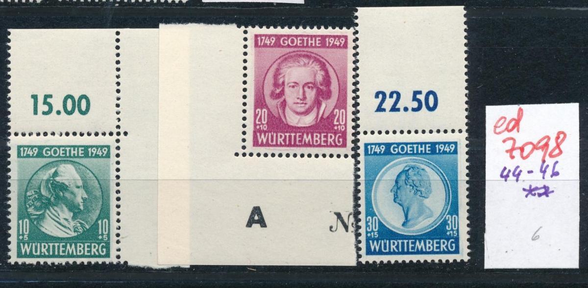 Würtemberg Nr.44-46  **    (ed7098  ) siehe scan 0