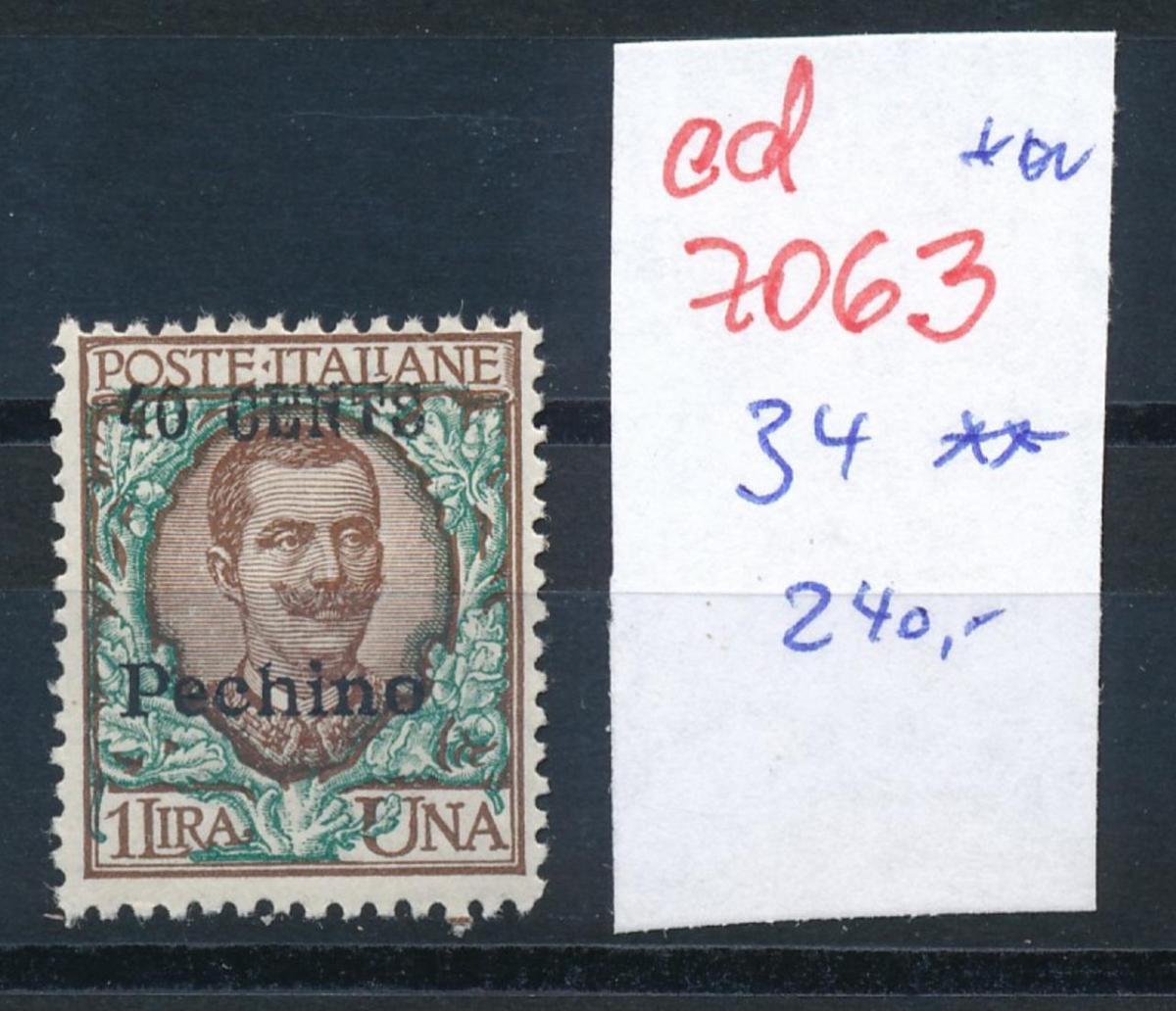 Italien Post in China ** Nr.  34     (ed7063  ) siehe scan 0