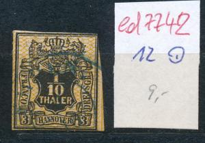 Hannover   Nr.  12  o  (ed7742  ) siehe scan