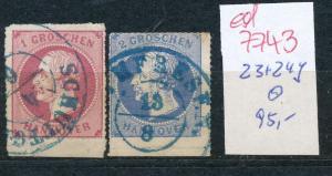 Hannover   Nr.  23+24 y  o  (ed7743  ) siehe scan