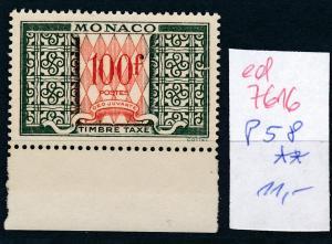 Monaco Nr.  P58  **   (ed7616  ) siehe scan