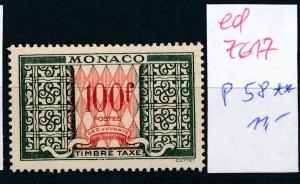 Monaco Nr.  P58  **   (ed7617  ) siehe scan