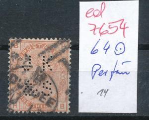 UK Nr. 64  Perfin o  (ed7654  ) siehe scan