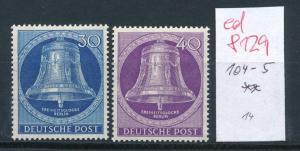 West Berlin  Nr.  104+5  sauber   ** (ed8129    ) siehe scan