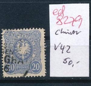D.-Post in China Nr. V42  o  ( ed8279 ) siehe scan