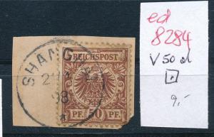 D.-Post in China Nr. V50 d EZ.  o  ( ed8284 ) siehe scan