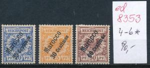 Marokko  Nr.  4-6 *  ( ed8353  ) siehe scan