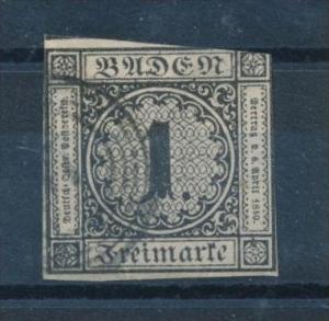 Baden  Nr. 5  o (s695)siehe Bild