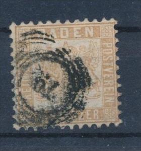 Baden  Nr. 20b   o (s751) siehe Bild