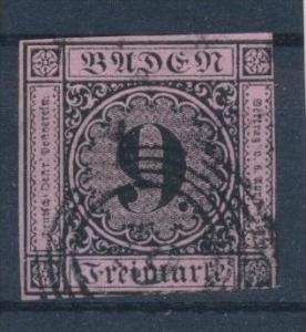 Baden  Nr. 4a    o (s753) siehe Bild
