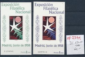 Spanien Block 13+14  **  (op2341 )  siehe scan
