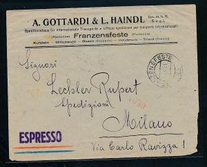 Italien Express  -netter Beleg....   ( ze6326  )-siehe scan !!
