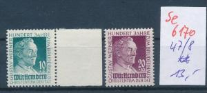 Würtemberg Nr.  47-8 **    ( se6170 ) siehe Foto