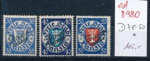 Danzig Nr.  D  48-50  *   (ed8980  ) siehe scan