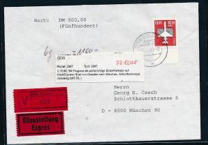 DDR seltene Einzelfrankatur  Nr. 2967  (zz8018 ) siehe scan  !