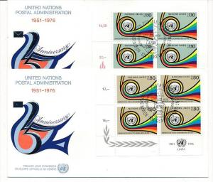 UNO  Genf -FDC  4x60-1 Tab.  (bc5991 ) siehe scan !!
