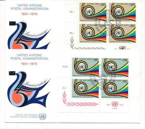 UNO  Genf -FDC  4x60-1 Tab.  (bc5995 ) siehe scan !!