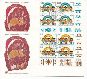 UNO  Genf -FDC  4x83-4  Tab.  (bc5997 ) siehe scan !!