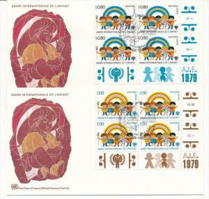 UNO  Genf -FDC  4x83-4  Tab.  (bc5998 ) siehe scan !!