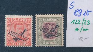 Island  Nr. 122-23 */**   ( s 8915  ) siehe scan  !