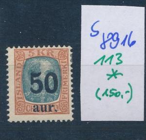 Island  Nr. 113  *  ( s 8916  ) siehe scan  !
