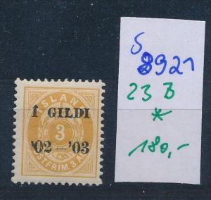 Island  Nr.  23 B  * ( s 8921  ) siehe scan  !