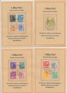 Zonen Lot 4 Karten 1 .Mai  1947    (g1257    ) siehe scan....
