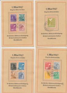 Zonen Lot 4 Karten 1 .Mai  1947    (g1258    ) siehe scan....