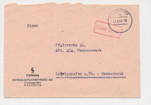 Zonen  -Gebühr bezahlt-Nürnberg    -  Beleg  (g1159 ) siehe scan....