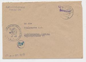 Zonen  -Gebühr bezahlt-Frankfurt   -  Beleg  (g1158 ) siehe scan....