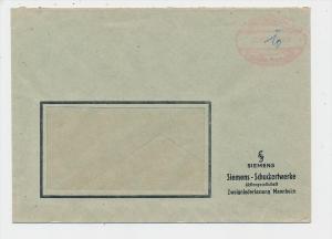 Zonen  -Gebühr bezahlt-Mannheim   -  Beleg  (g1156 ) siehe scan....