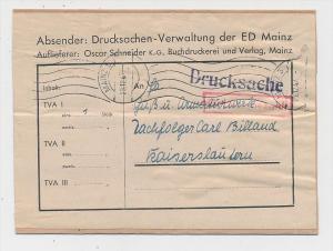 Zonen  -Gebühr bezahlt- Beleg  - Mainz   (g1041 ) siehe scan....