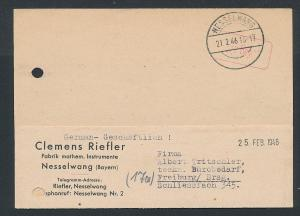 Zonen-Gebühr bezahlt Beleg-Nesselwang     (ge2121  )  siehe Bild
