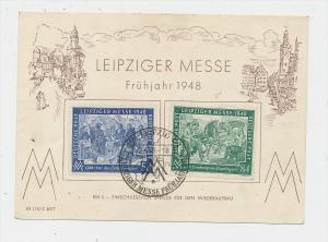 Zonen-Messe Karte Leipzig 1948    (g1183  )  siehe Bild